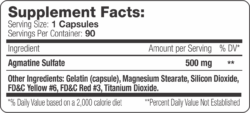 Agmatine XT Label Supplement Facts