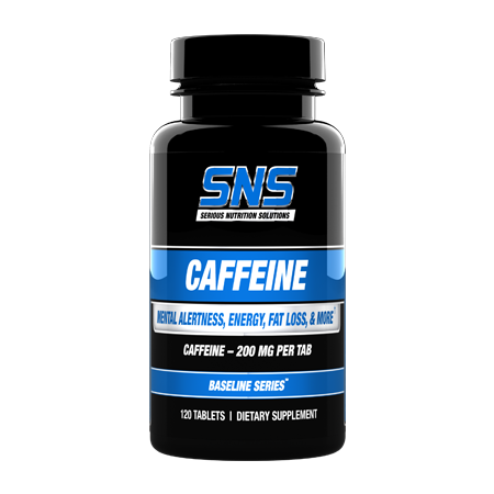 Caffeine 120 tablet Container