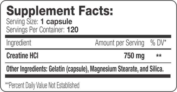 Creatine HCI Label
